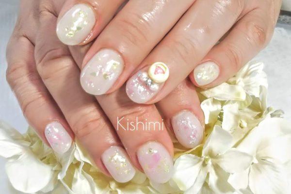 溶剤で弱ったお爪のお客様  福山市 ネイル Kishimi(キシミー)